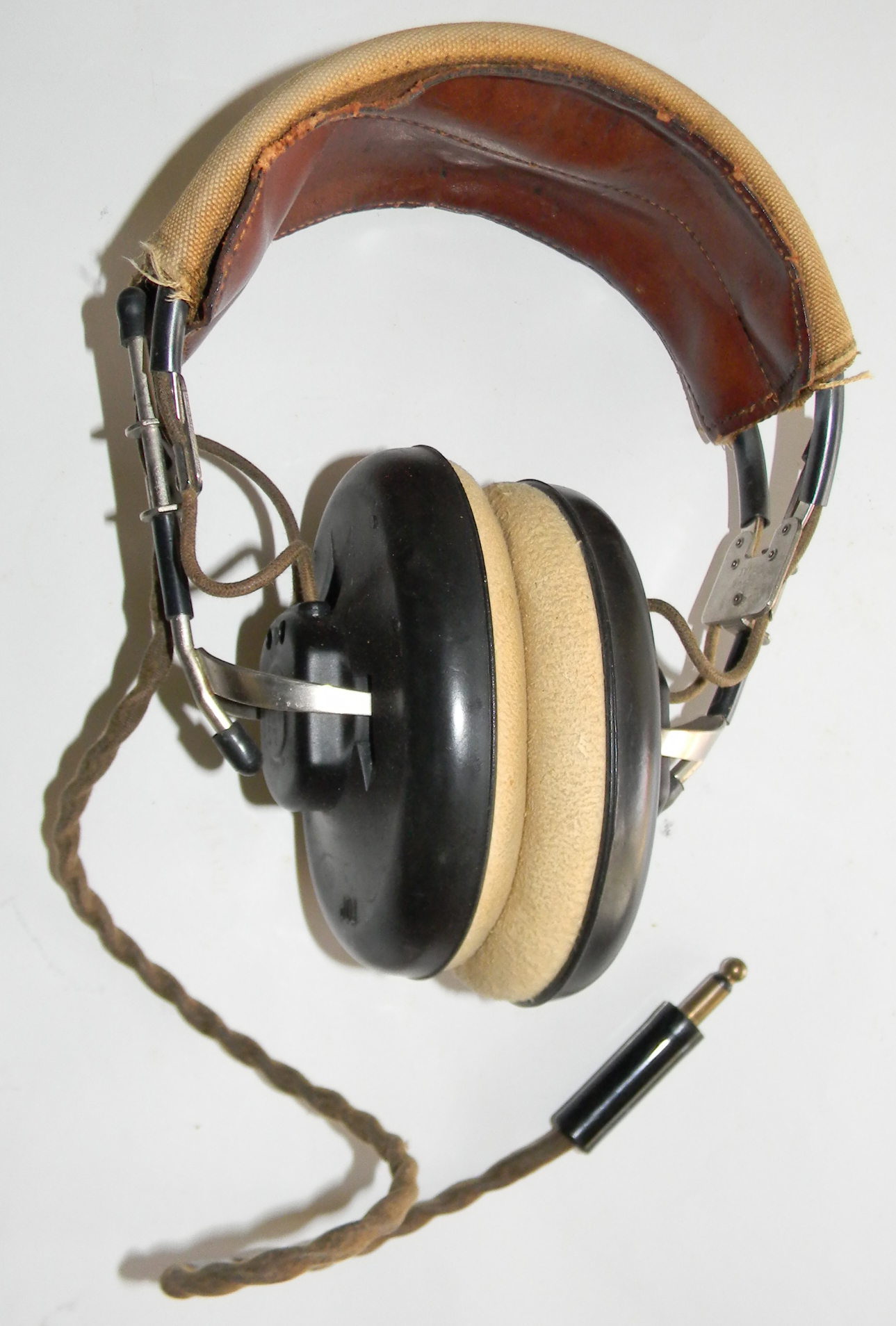 WWII US Navy aircrew headset