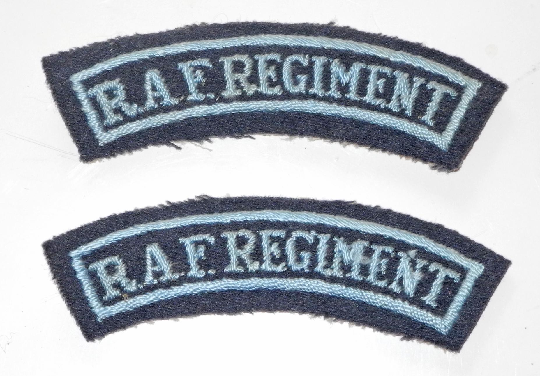 WWII RAF Regiment shoulder titles