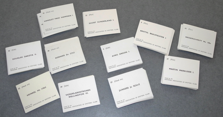"RAF / Royal Observer Corps ""Spotter Cards."""