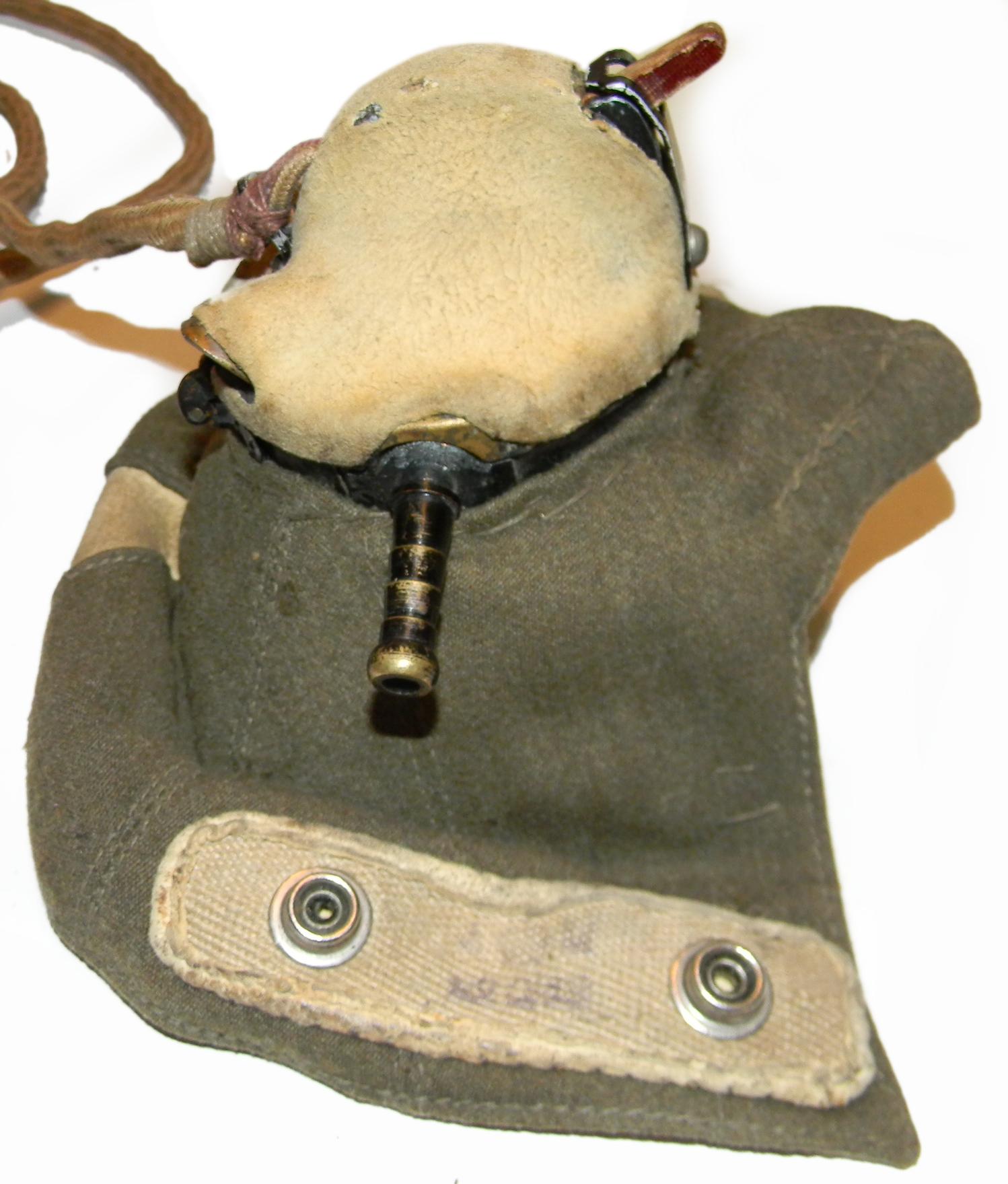 RAF B helmet, D mask, IIIa goggles