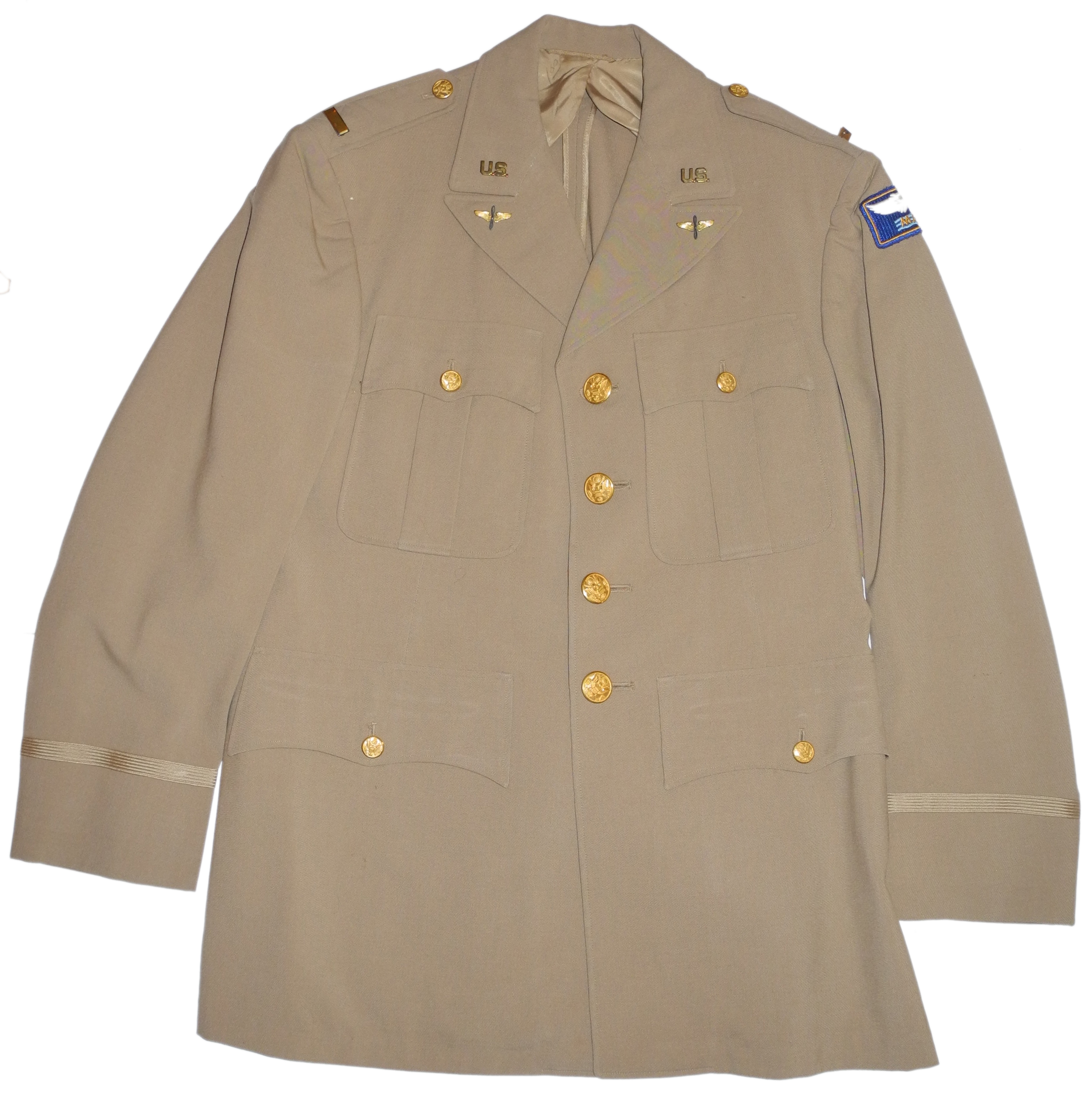 WWII AAF Lt. khaki service uniform MAAF