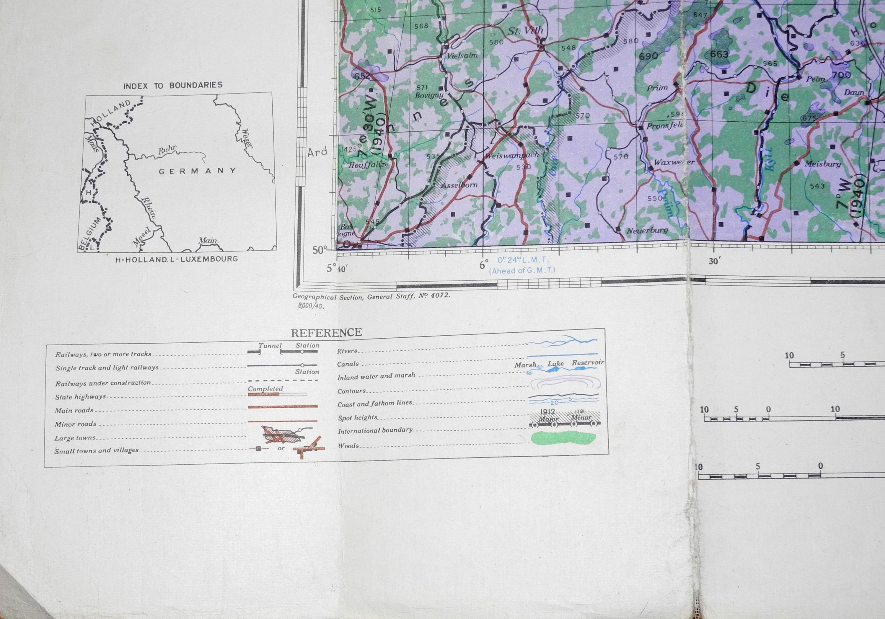RAF navigation chart Frankfurt