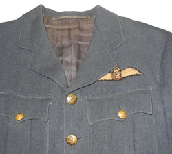 RAF service dress jacket to a F/O pilot