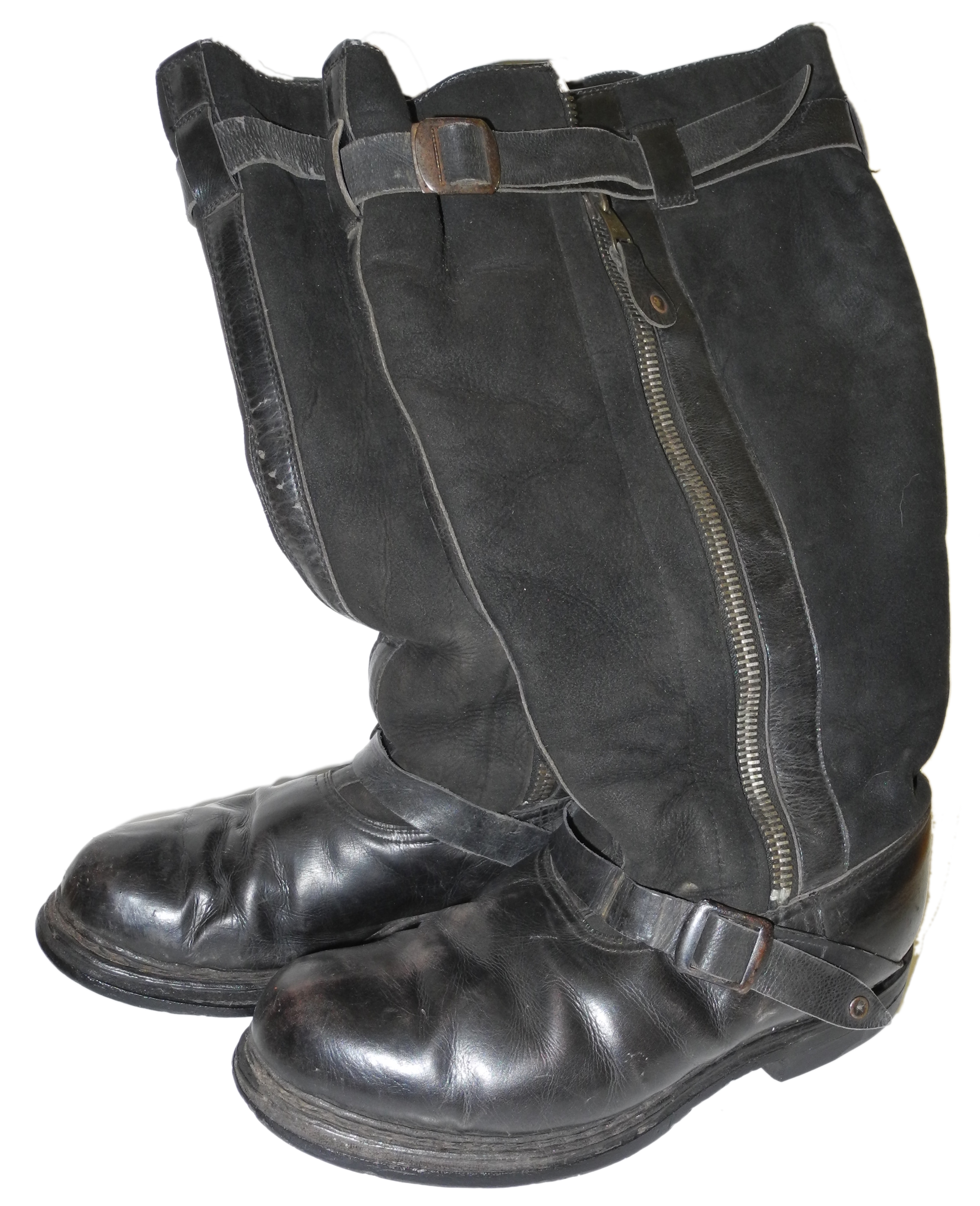 LW early double-zip flying boots