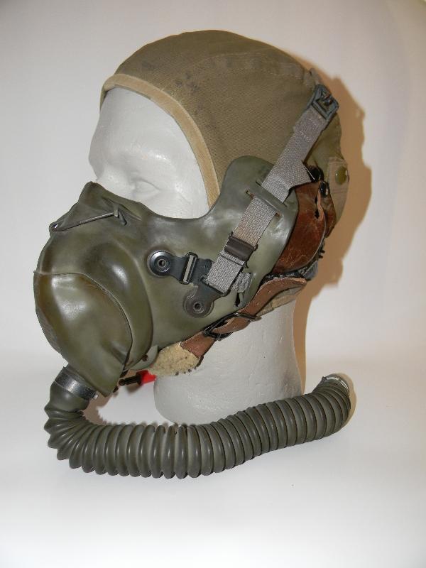 AAF A-9 helmet and oxygen mask