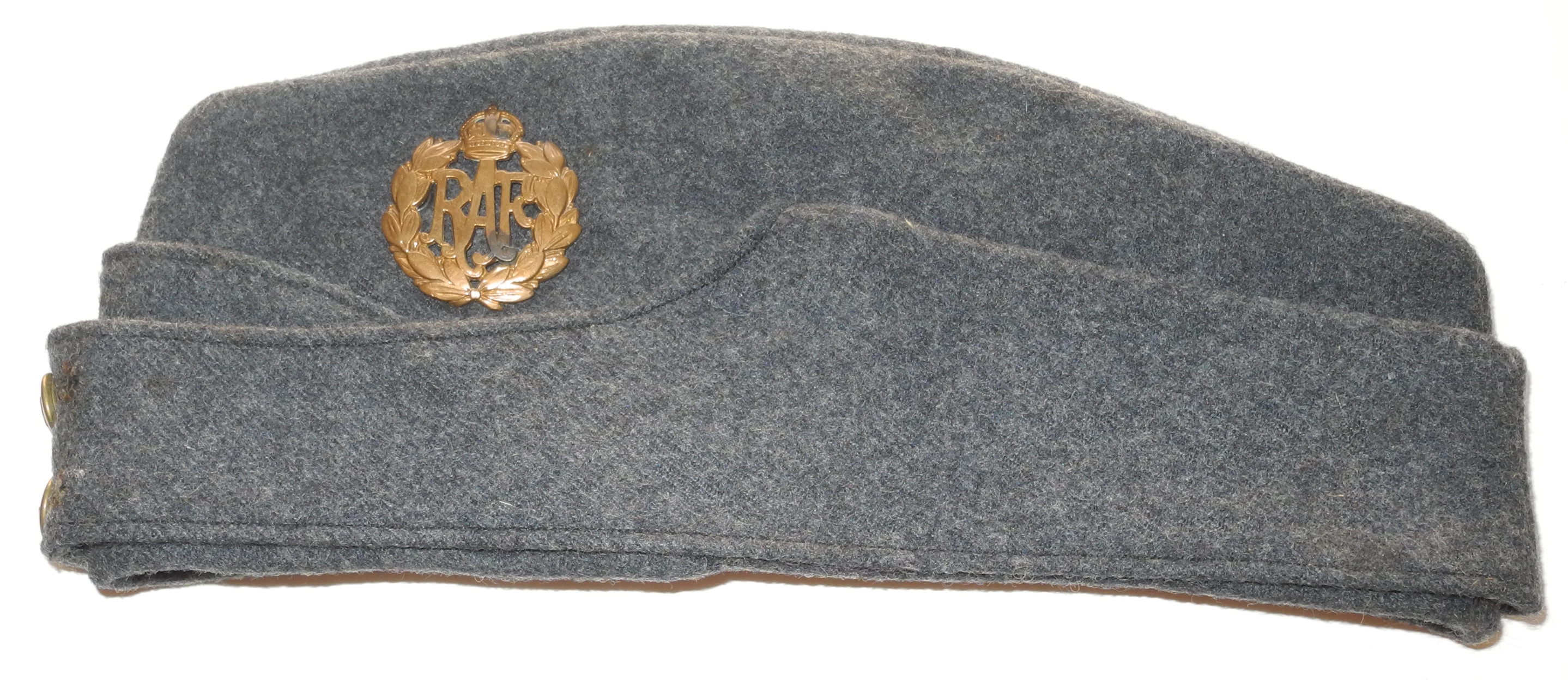 RAF 1940 dated other ranks side cap