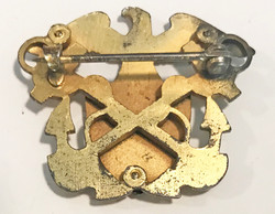 WWI US Navy RARE Side cap badge with right-facing eagle
