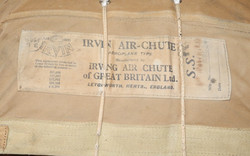 RAF Seat Type Parachute assembly by Irvin Air Chute Company, complete  and dated September 1940 - Ba