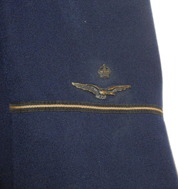 RAAF pilot's uniform SD tunic, named with history to KIA pilot who bombed the Tirpitz