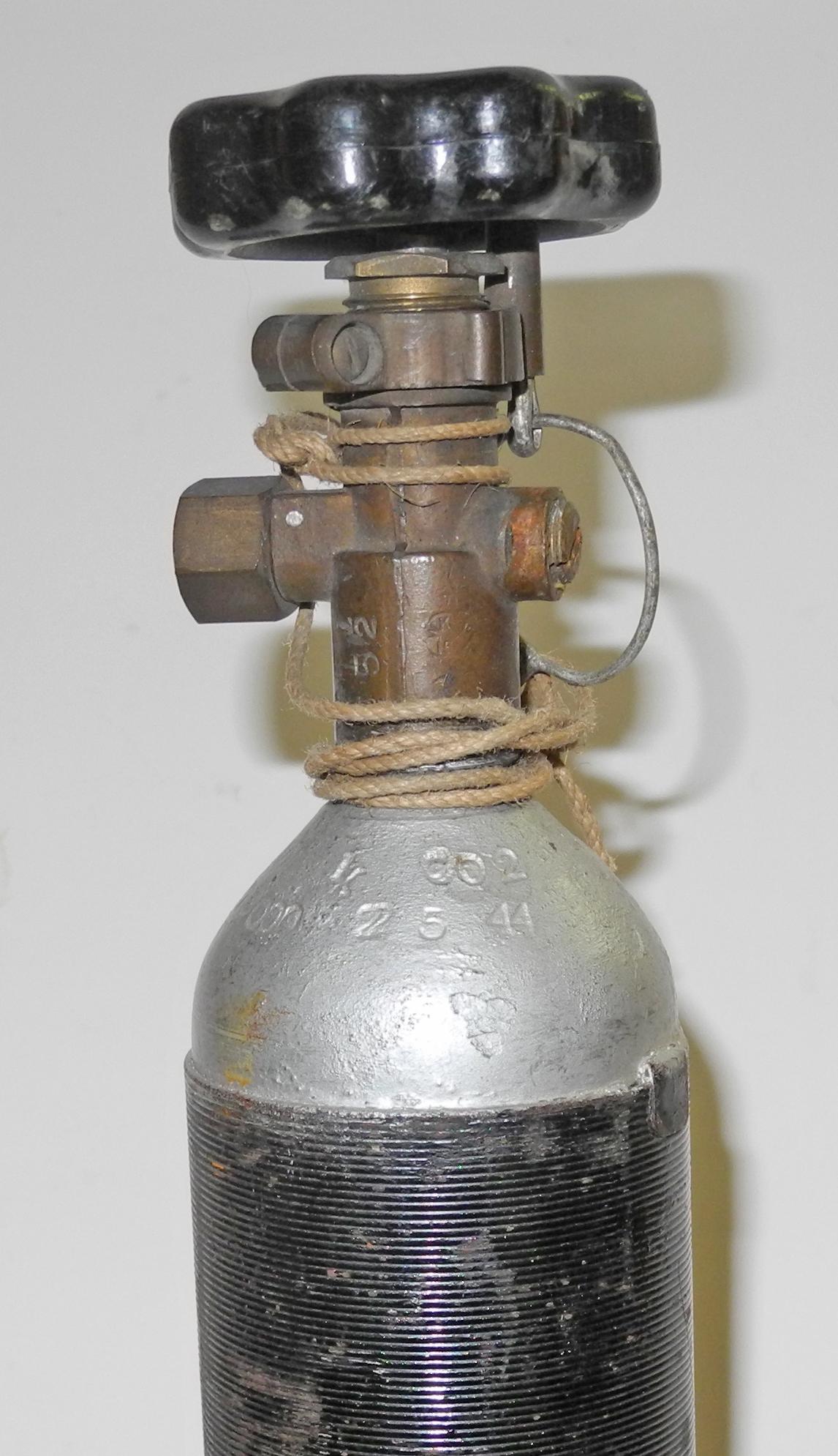RAF K dinghy CO2 cylinder 1944