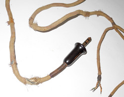 Early wartime RAF external wiring for the B helmet/ Type 19, Type 21 or Type 25 microphone
