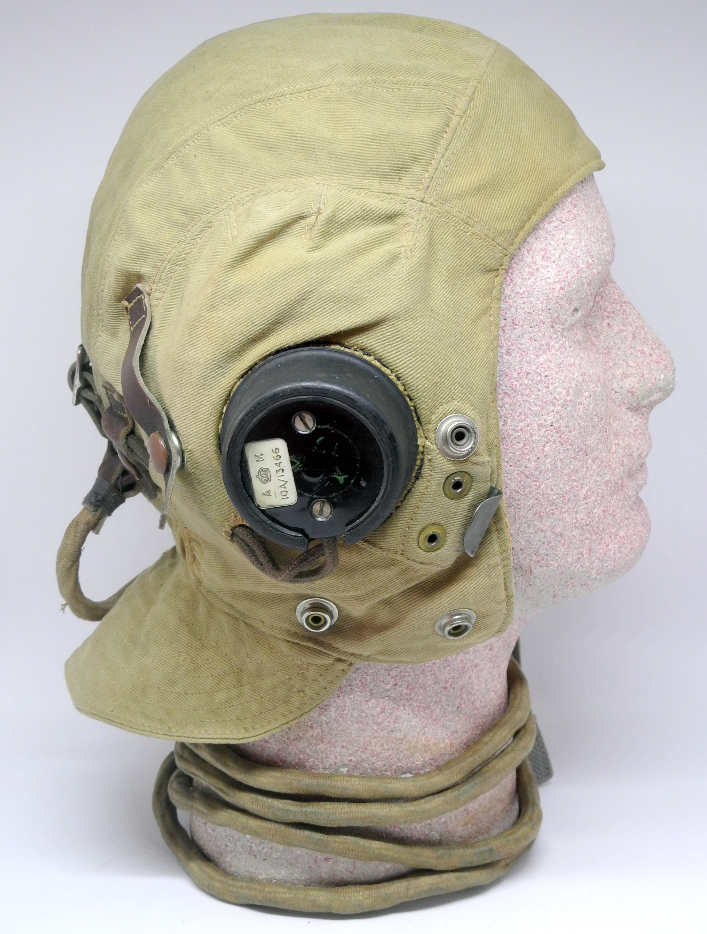 RAF Type D helmet, fully wired