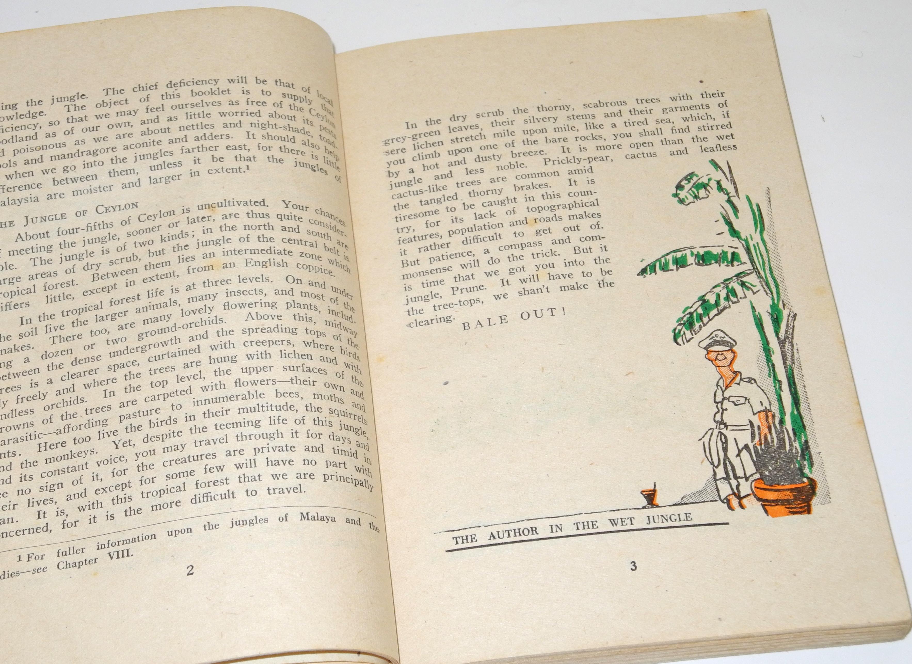 RAF 1945 Jungle Survival book