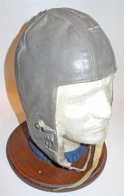 LW grey leather K33 flying helmet