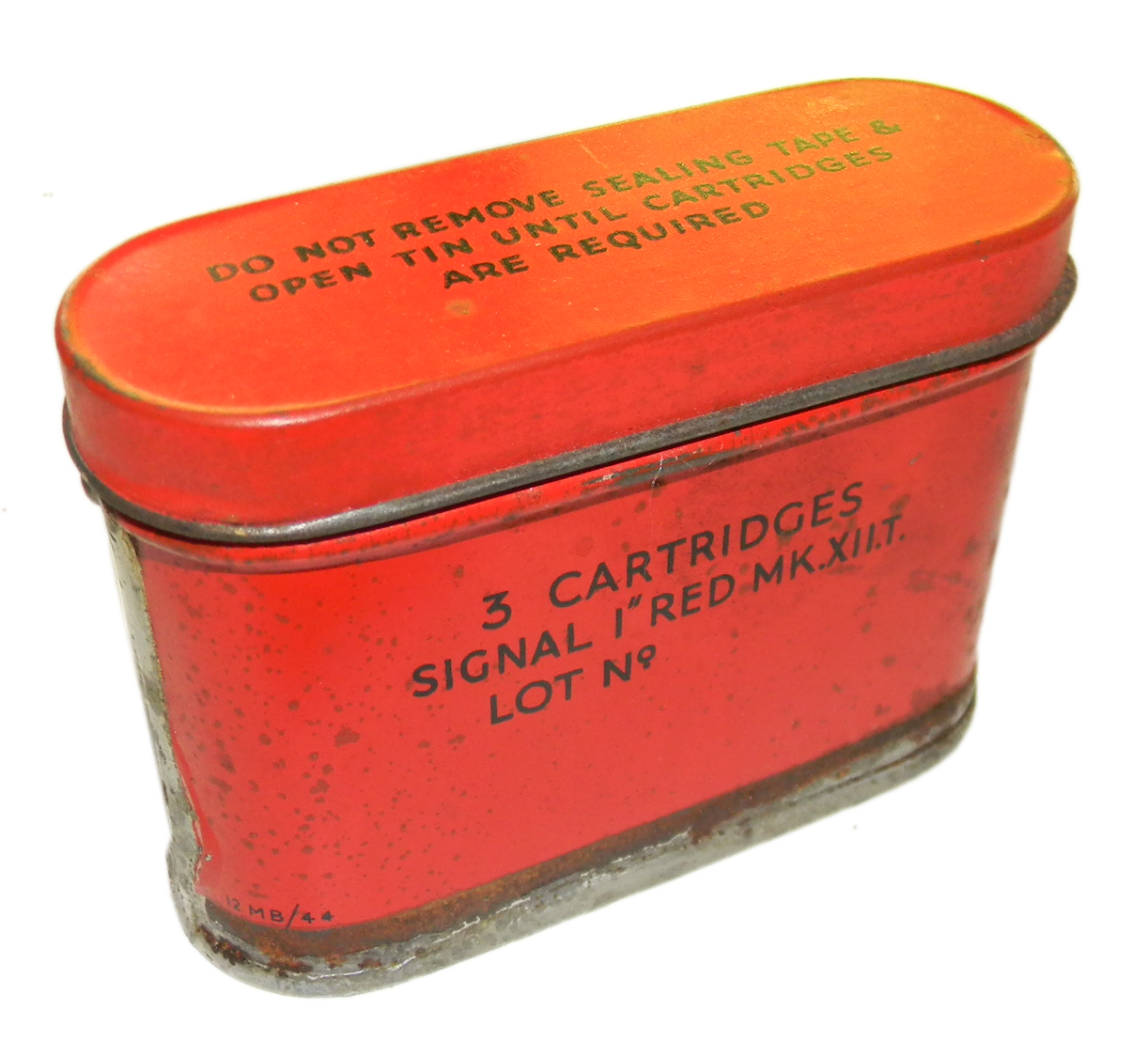 RAF K dinghy pack flare tin