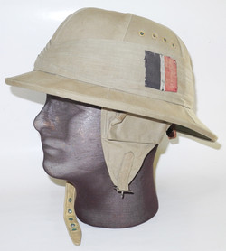 RAF Type A cork flying helmet with RAF flash on pugaree band