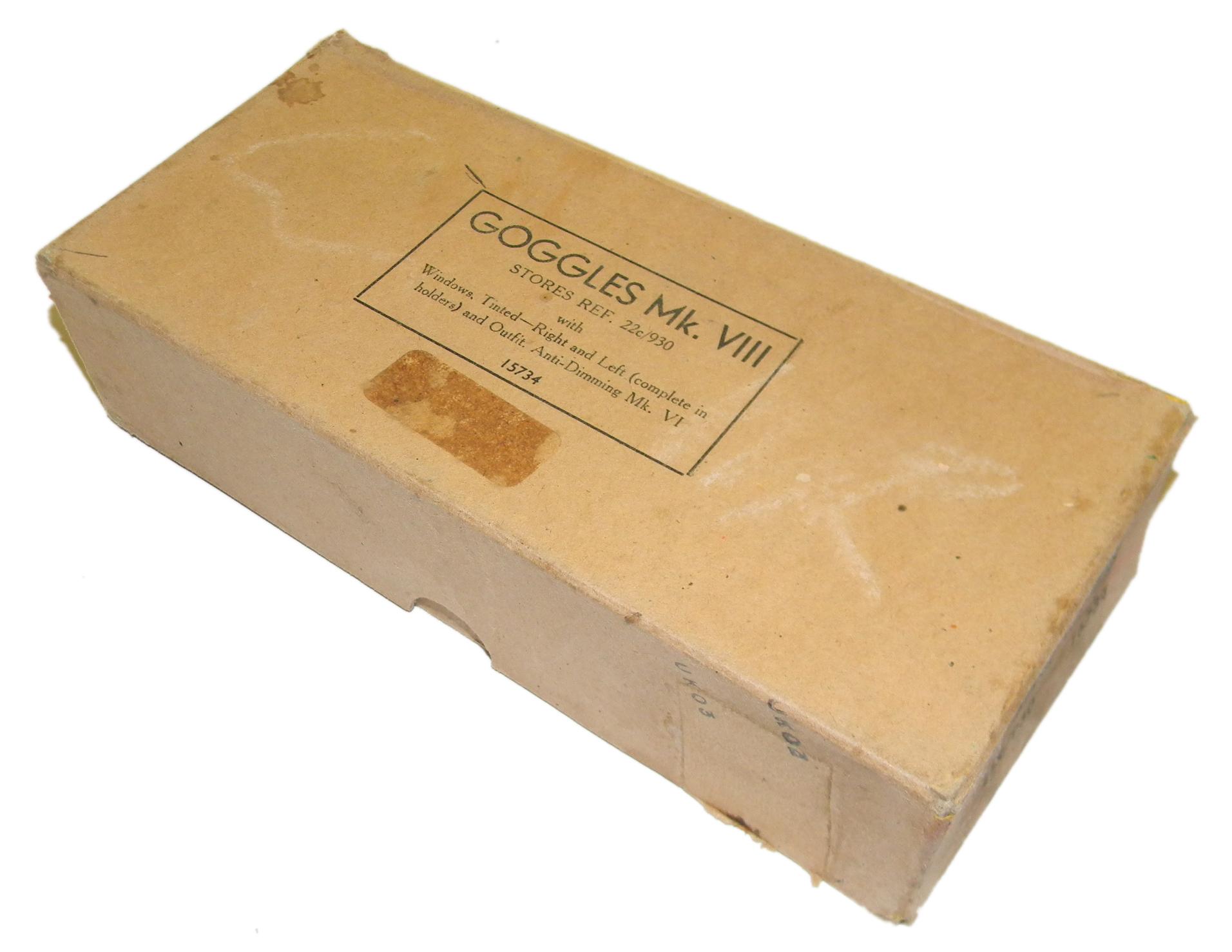 RAF Mk VIII goggles boxed / variant
