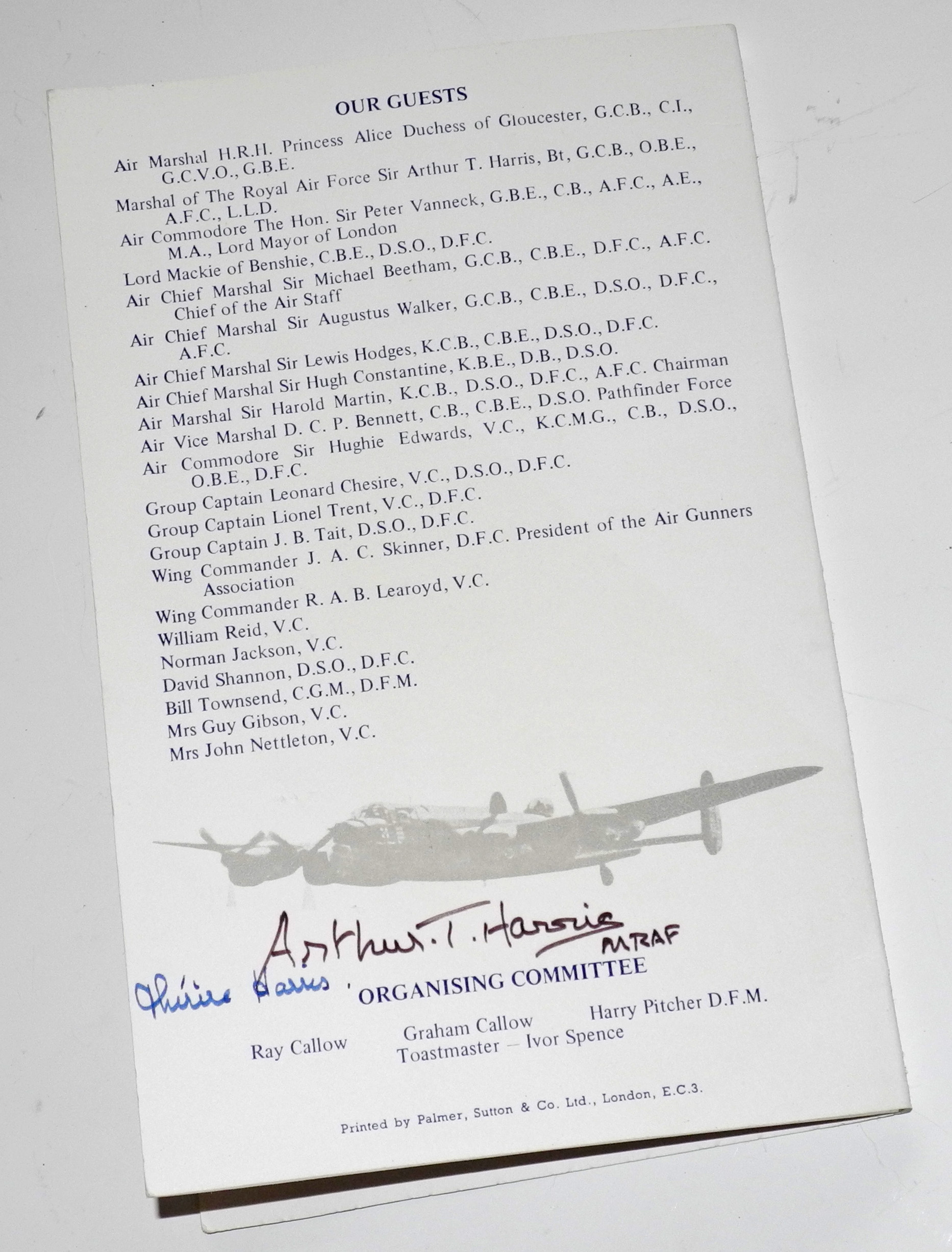 RAF Dambusters signed items
