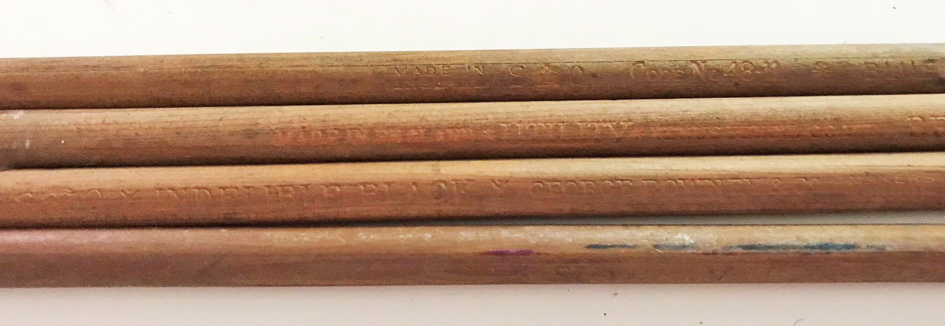RAF navigator's chart marking pencils set of 4