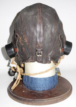 RAF Type C helmet + Type E* oxygen mask with full external wiring