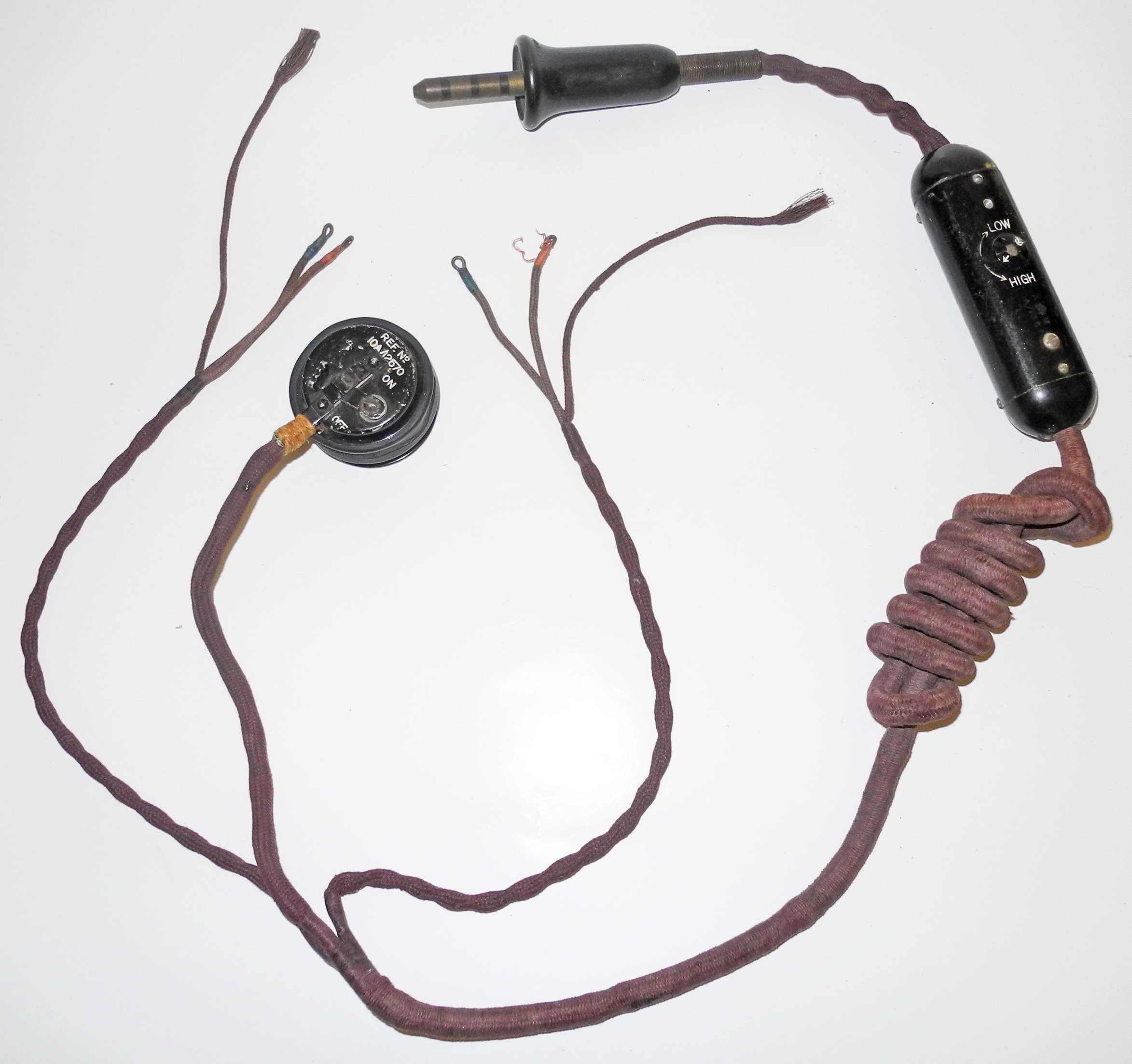 RAF external wiring loom with switch