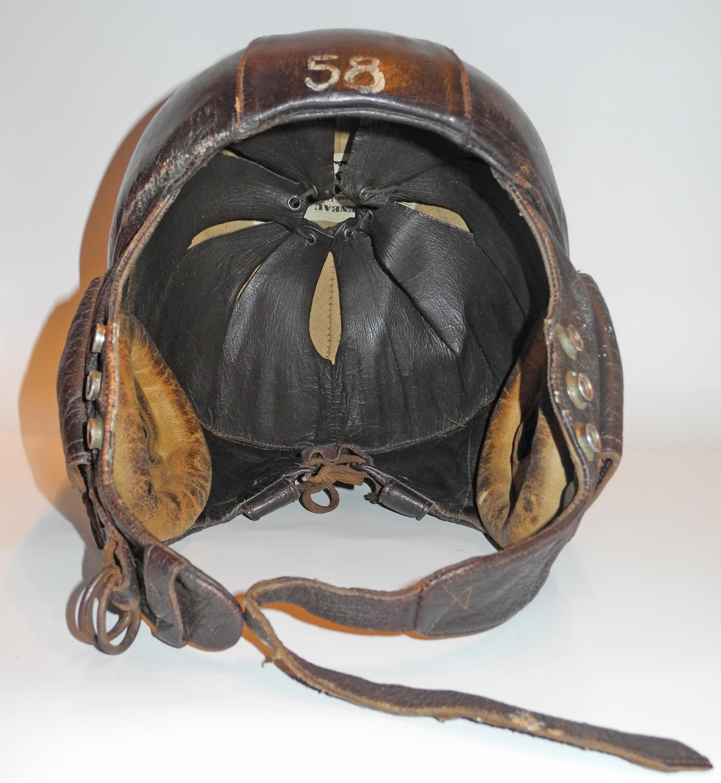 French WWII Gueneau flying helmet
