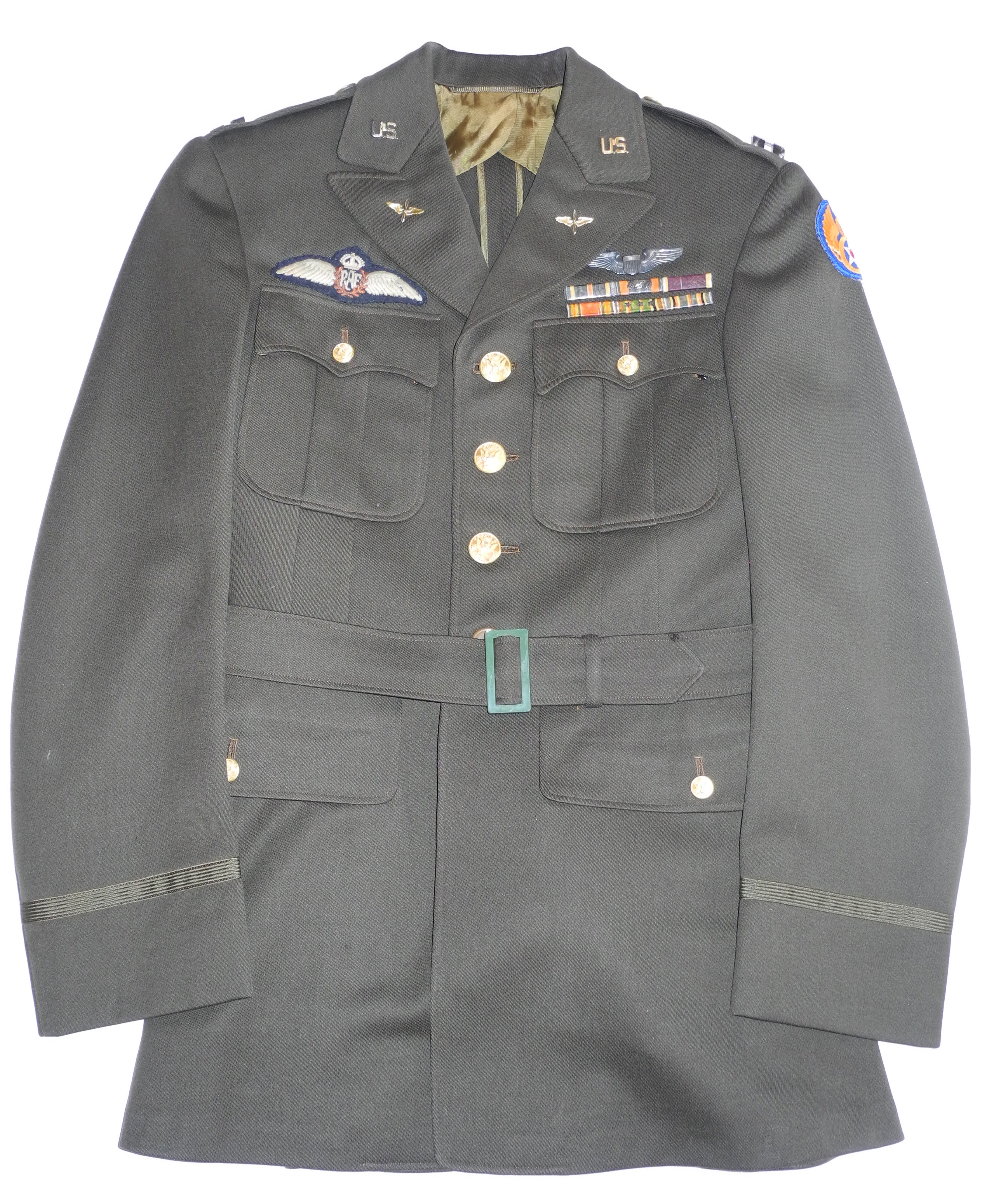 "Named AAF officer's tunic with ""Yank in the RAF"" history"