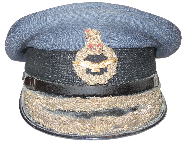 RAF Air Rank officer's cap M.W.S. Robinson