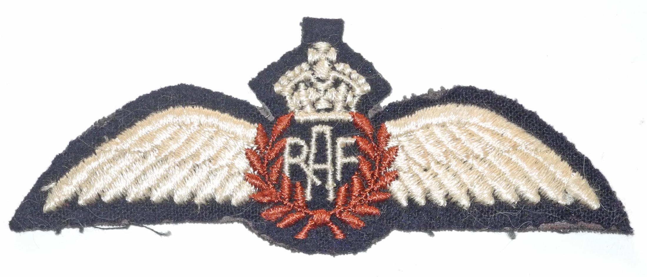 Canadian made RAF pilot wing
