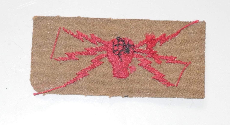 WWII RAF Radio Operator/Mechanic badge for other ranks' KD / tropical uniform.