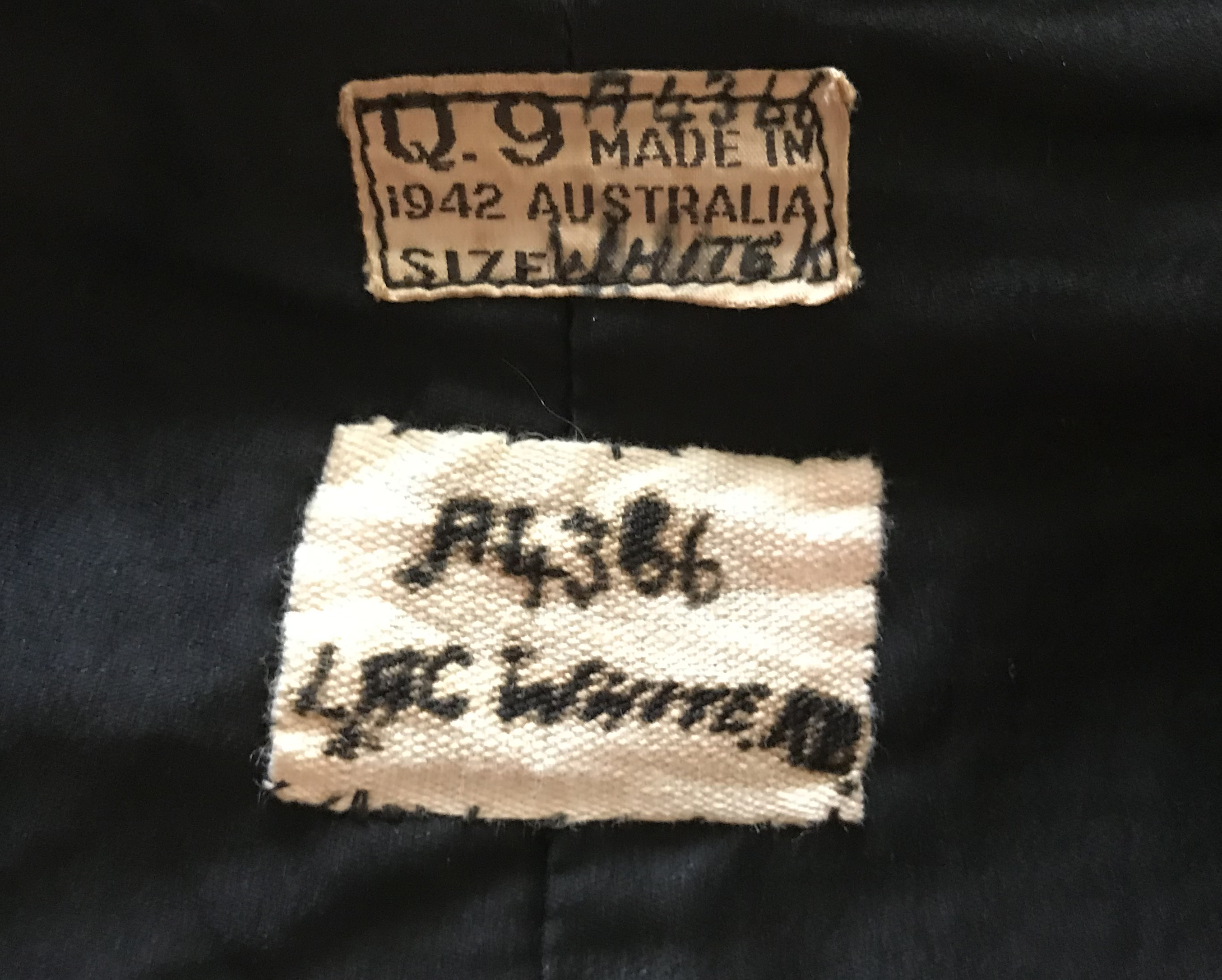 RAAF other ranks service dress tunic dated 1942