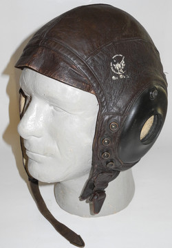 AAF A-11 Flying Helmet with snaps for attaching visor