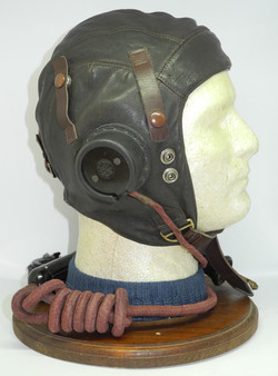 """RAF first pattern Type C helmet, with """"up and down"""" goggles straps and 2 fasteners for the mask, fit"""