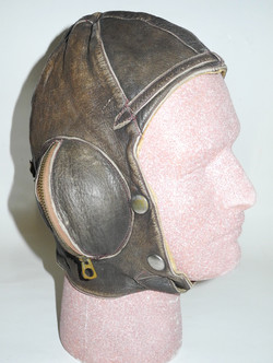 RAAF Type B helmet, double-named with Stagg's label