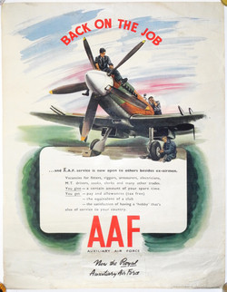 RAF Auxiliary posters x2
