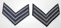WWII RAF sergeant's stripes, near perfect matched pair