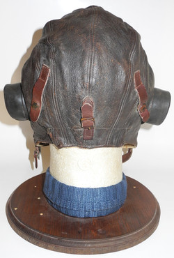 RAF first pattern unwired Type C flying helmet, named with service number