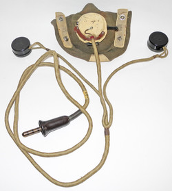 RAF Type D oxygen mask with Type 19 microphone assembly complete, plus tube and connector