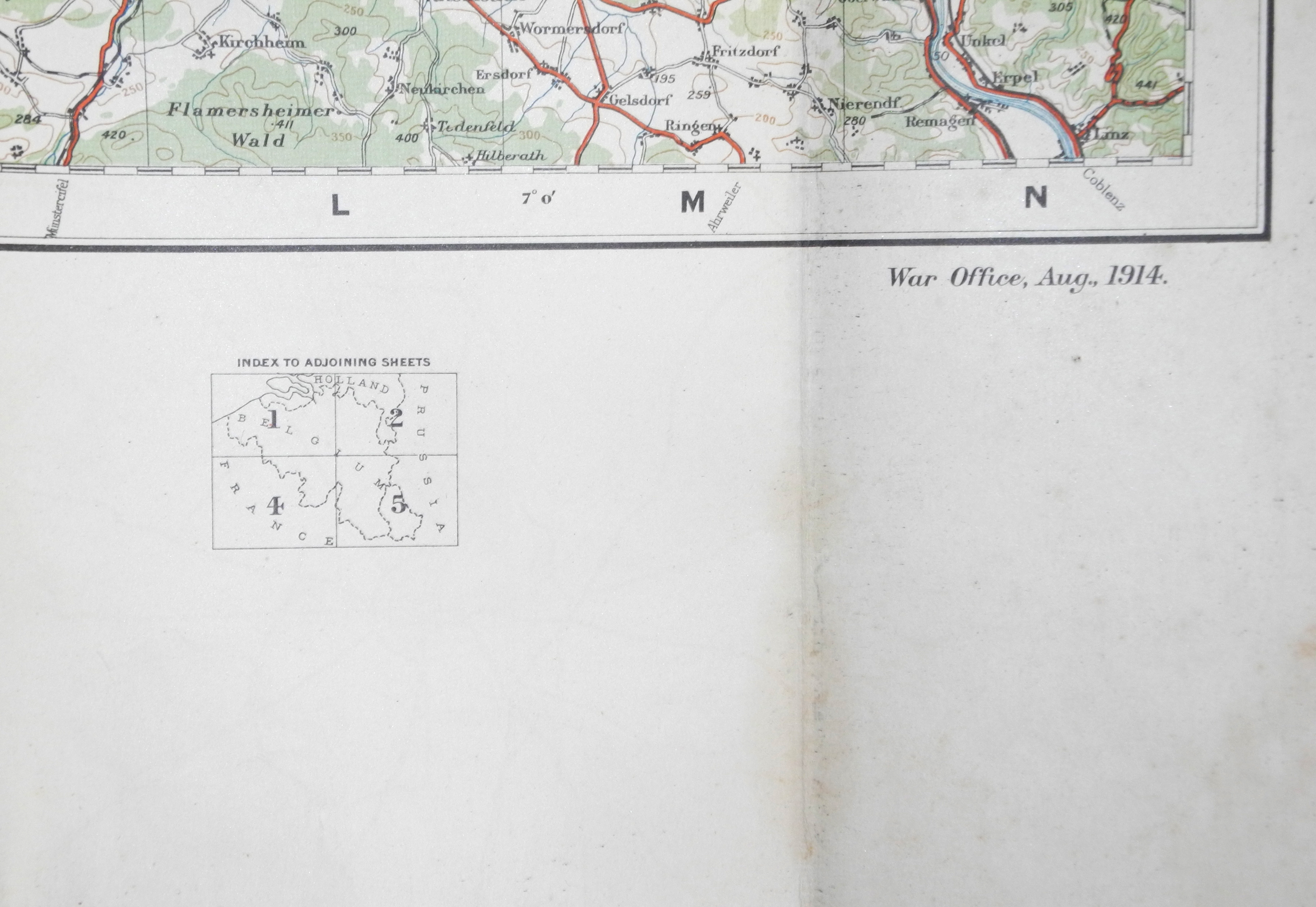 RFC WWI Fight map / chart N.W. Europe