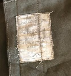 Paratrooper's 1942 Pattern Oversmock original model dated 1942 dated