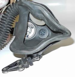 "RAF Mk Ia ""bone dome"" with Type G helmet and Type Q oxygen mask"