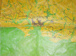 Luftwaffe bombing approach chart for Plymouth and Weymouth / Portland