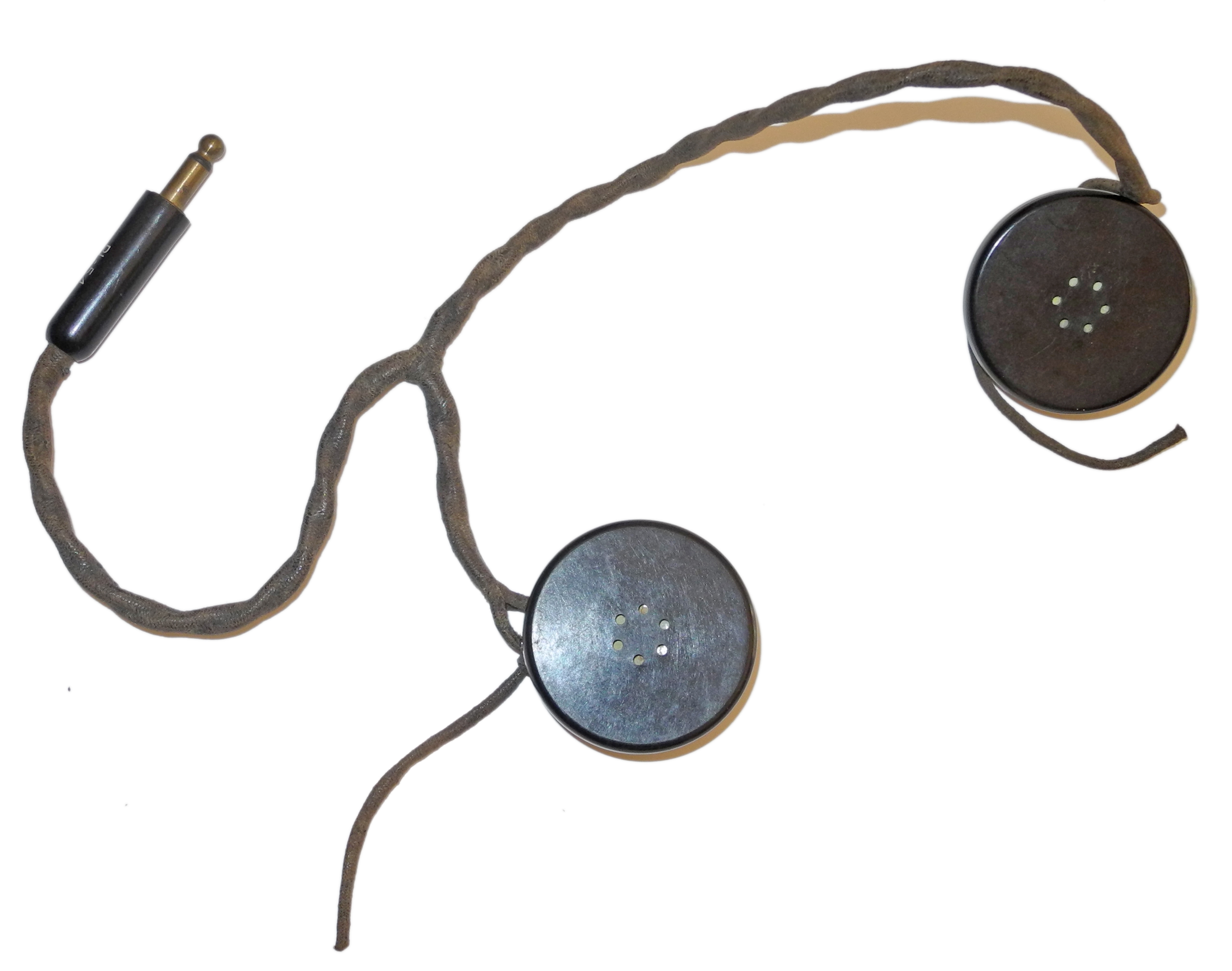 HS-18 headset for early AAF flying helmets