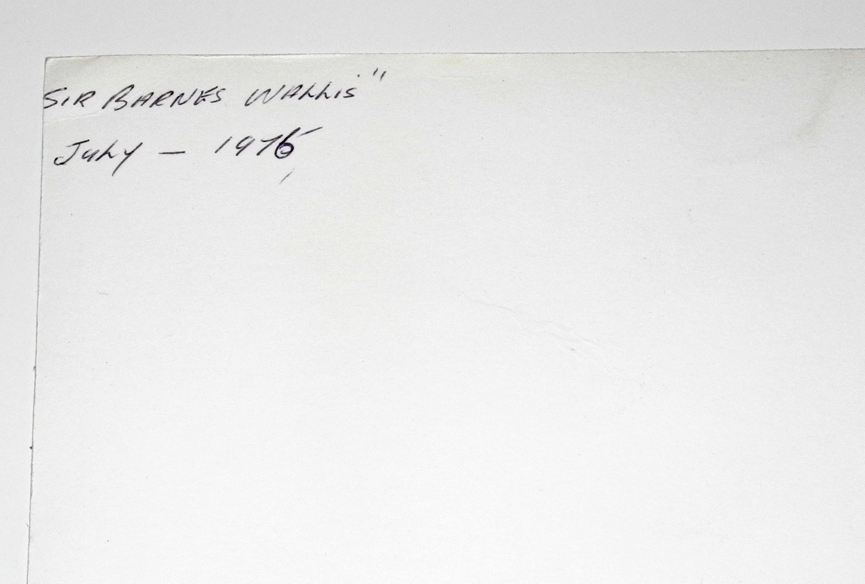 Signed photograph of Barnes Wallis