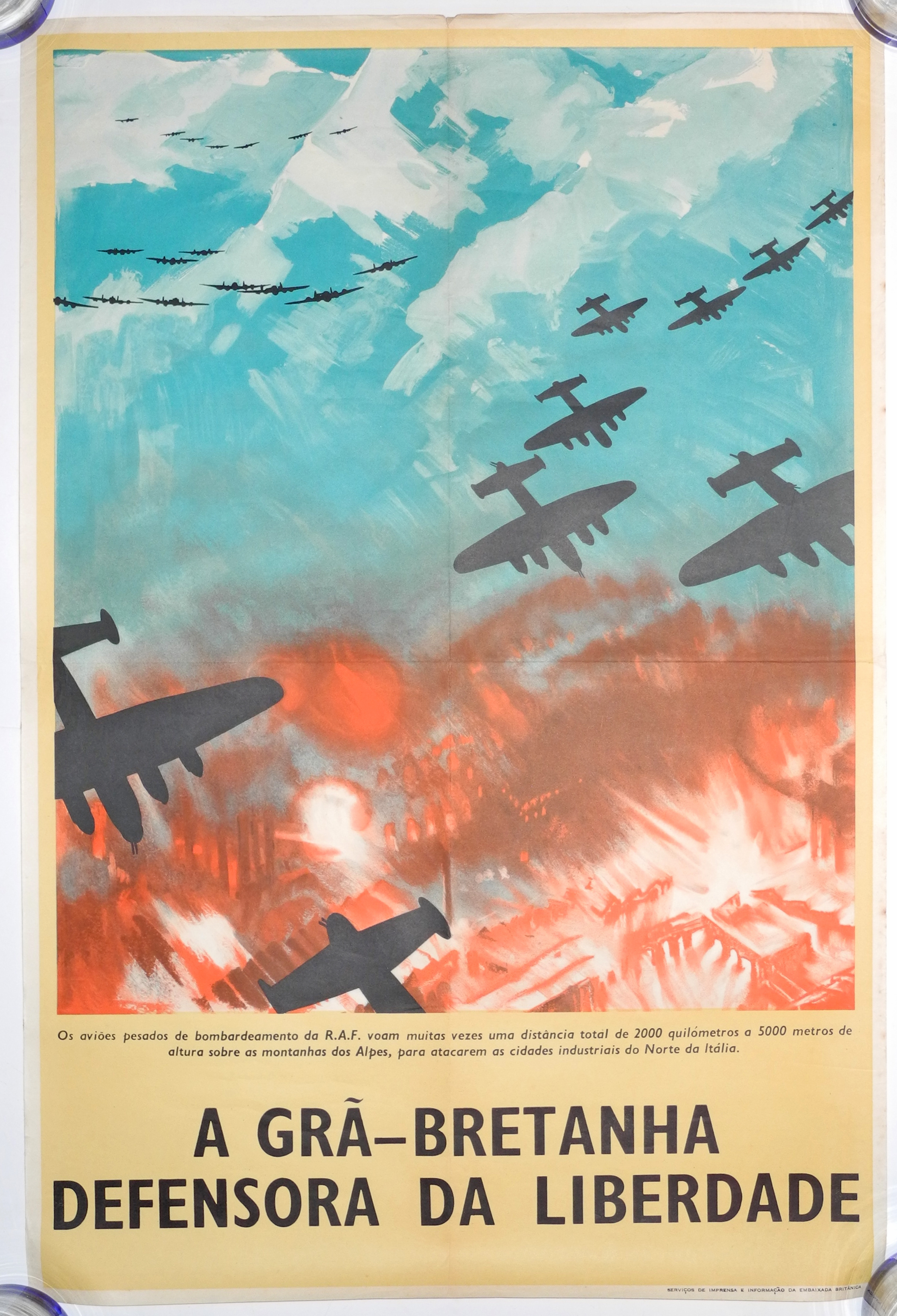 Bomber Command poster in Portuguese