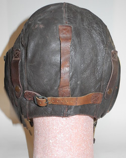 AAF A-11 flying helmet with snaps for A-1 visor
