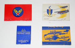 WWII commemorative matchbooks - no matches.