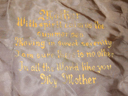 "AAF ""mother"" pillow case"