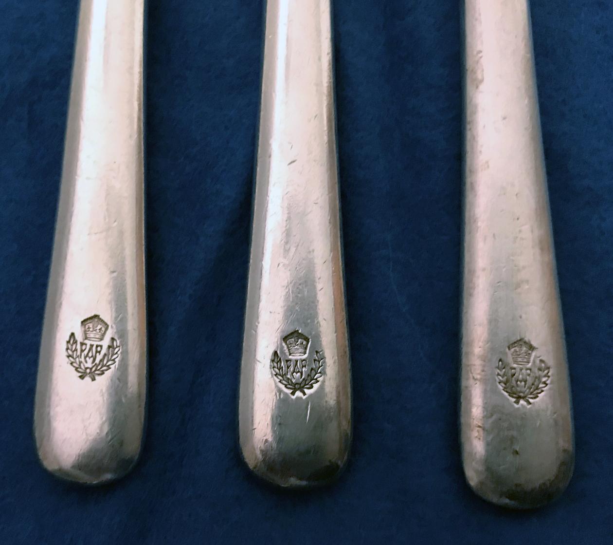 RAF Cocktail Forks - Hallam Plate