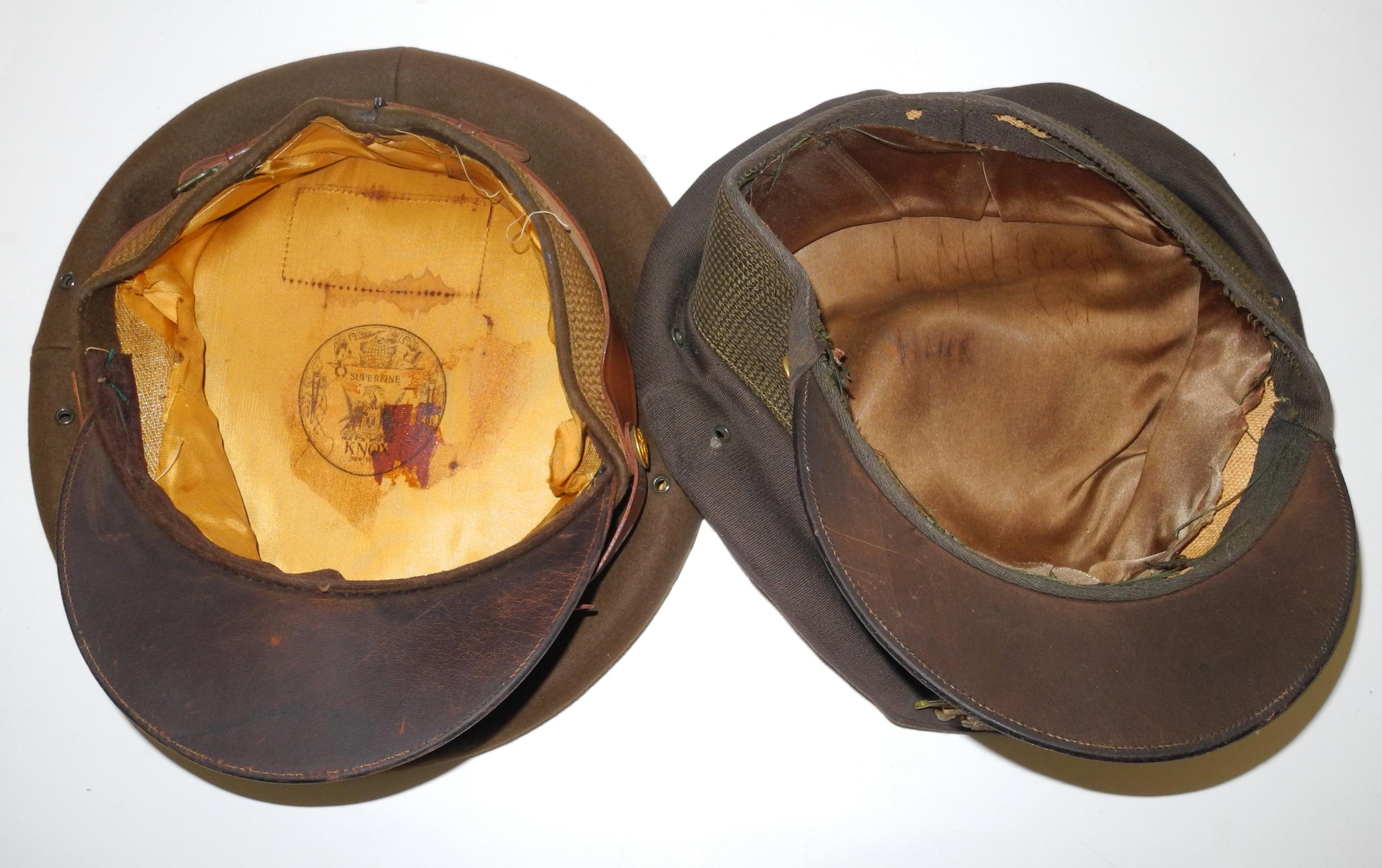 2 x US Army / AAF officer's visor caps